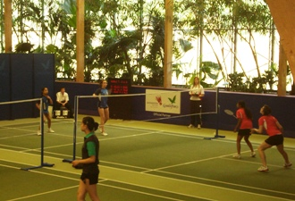 U14 Girls Badminton Team - Finalists at the National Schools Badminton Championships, Centre Parcs, Sherwoood - 2010